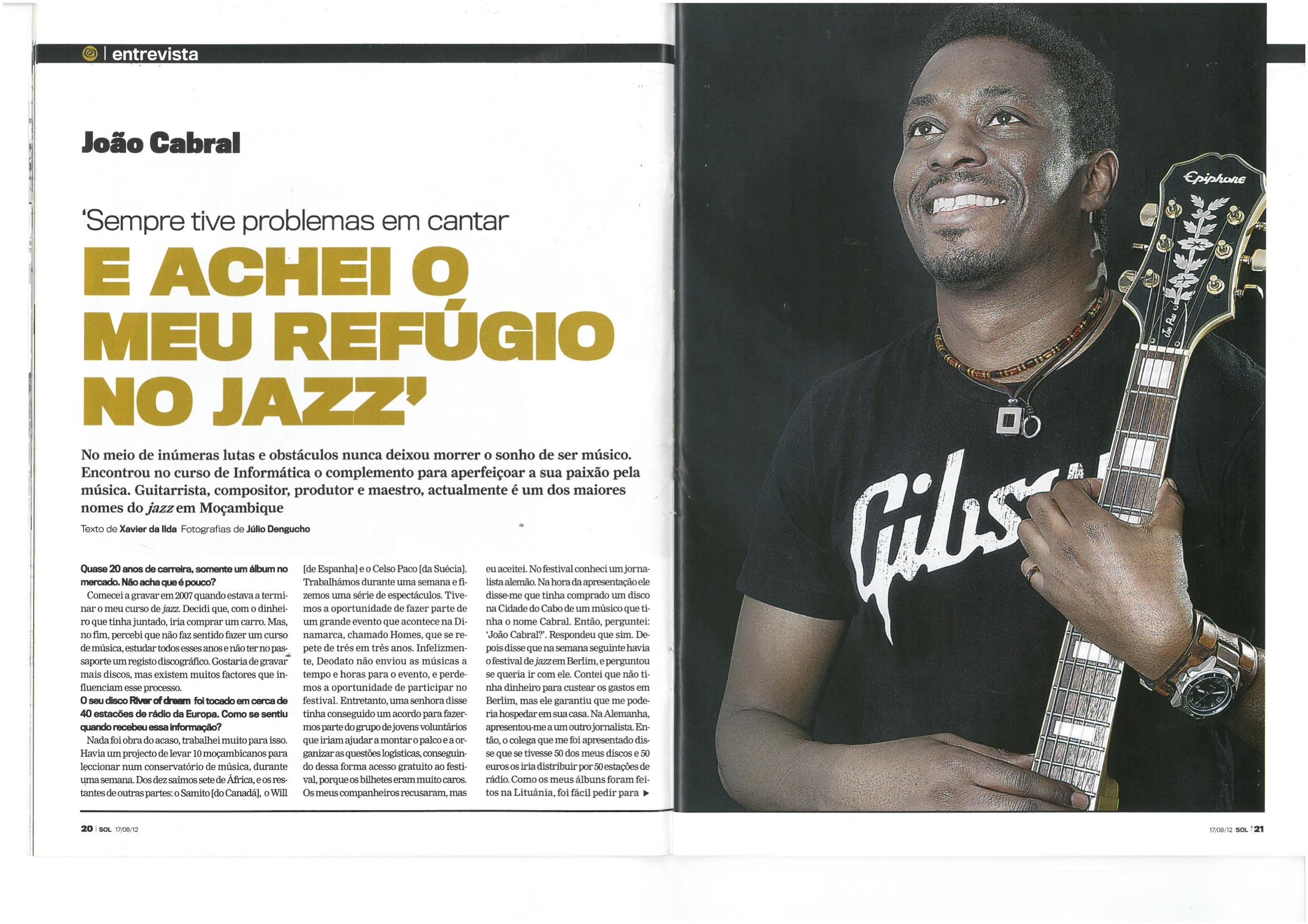 João Cabral Armando's Interview from Magazine LUA- (Part 1)