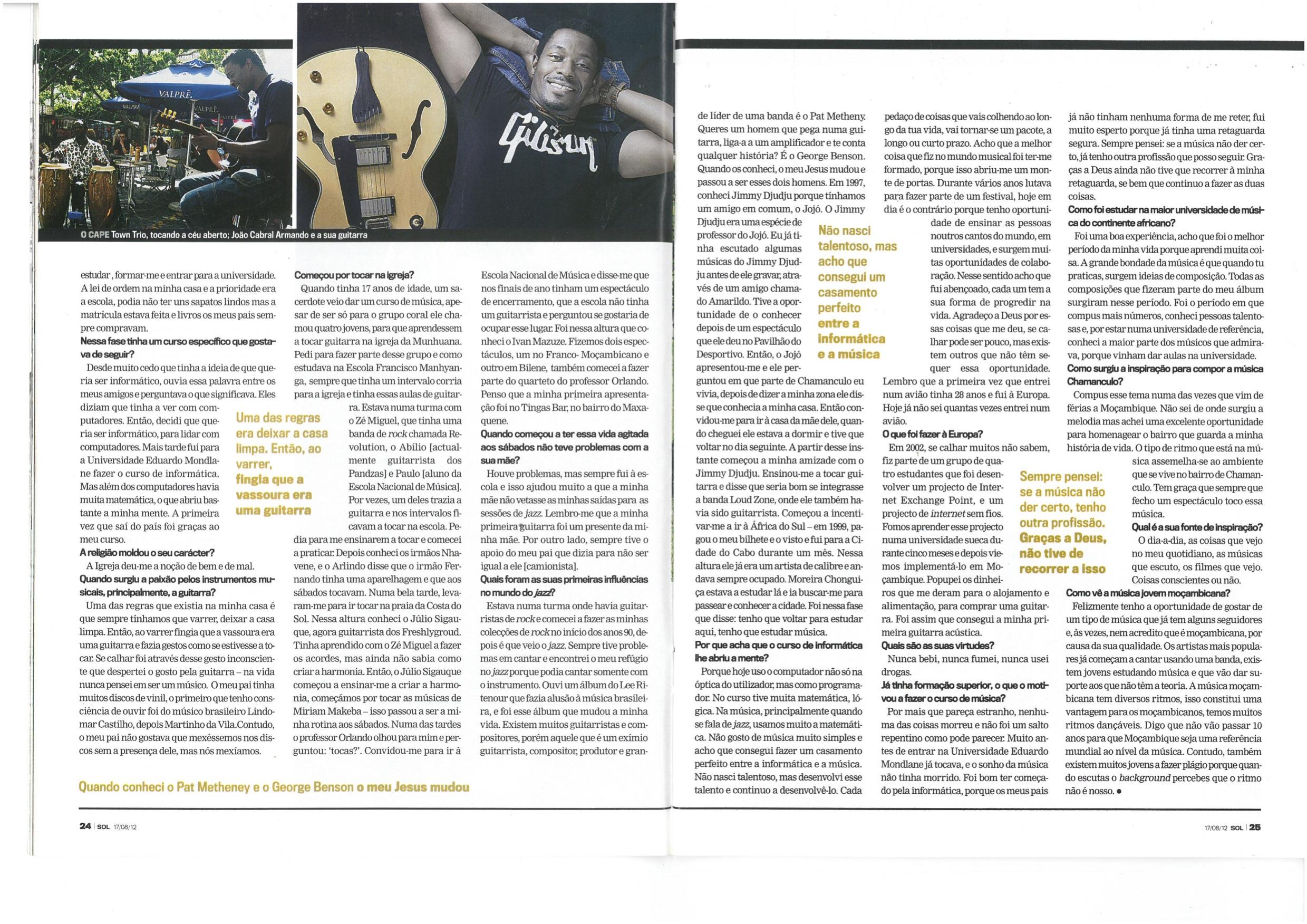 João Cabral Armando's Interview from Magazine LUA- (Part 3)